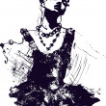 Beautiful dancer illustration — Stock Vector