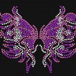Stock Vector: Decorative butterfly beaded artwork