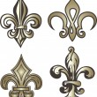 Stock Vector: Fleur de lis decoration