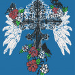 Faithful cross illustration — Stock Vector