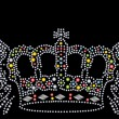 Vector de stock : Crown with wing diamond graphic