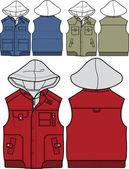 Boy jackets — Stock Vector