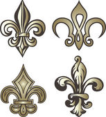Fleur de lis decoration — Stock Vector