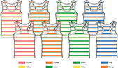 Ladies basic tank tops drawing — Stock Vector