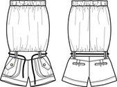 Senhoras jumper básicas de desenho — Vetor de Stock