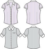 Lady fashion stripe tops — Vector de stock