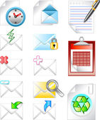 Email internet business icons set — Stock Vector