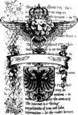 Heraldic lion royal emblem — Stock Vector