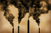 Global warming factory emissions pollution — Stock Photo