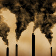 Global warming factory emissions pollution — Stock Photo #10711243