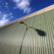 Seagul flying over hangar — Stock Photo #10711454