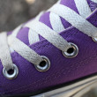 Purple shoe detail — Stock Photo