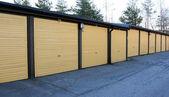 A row of garage doors — Stock Photo