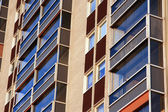 Balconies of residential building — Stock Photo