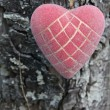 Royalty-Free Stock Photo: Heart on a wooden background