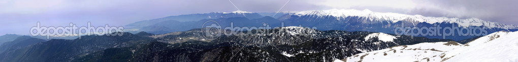 Panorama of mountain range — Stock Photo #10156315