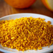 Grated orange rind — Stock Photo