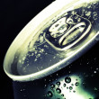 Cold drinks can, tilted — Stock Photo