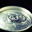 Cold drinks can, top — Stock Photo
