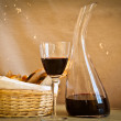 Wine and bread — Stock Photo