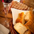 Wine and bread — Stock Photo #10269413