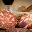 Salami and wine — Stock Photo #10269424