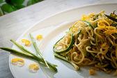 Tagliolini with courgettes — Stock Photo
