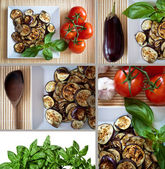 Mediterranean cuisine: a set of images — Stock Photo