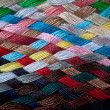 Braid of colourful threads — Stock Photo