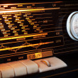Vintage radio detail - Stock Photo