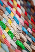 Braid of colourful threads — 图库照片