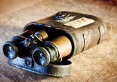 Vintage binoculars — Stock Photo