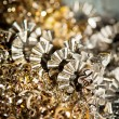 CNC metal shavings - Stock Photo