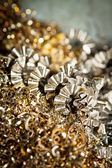 CNC metal shavings — Stock Photo
