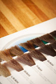 Hair dye colour swatch — Stock Photo