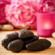 Royalty-Free Stock Photo: Massage stones, flowers and candles