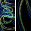 Royalty-Free Stock Photo: Light painting backgrounds