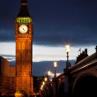 Big Ben at dusk - Stock Photo