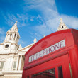 St Pauls, London and red phone box — Stock Photo