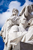 Albert Memorial, Kensington, London: detail of Asia — Stock Photo