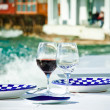 Dining by the sea — Stock Photo