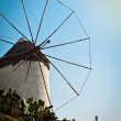 Windmill in Greece, portrait — Stock Photo