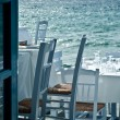 Restaurant on the sea - Stock Photo
