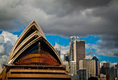 Sydney Opera House from the bay — Stock Photo