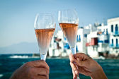 Toast by the sea — Stock Photo
