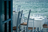 Restaurant on the sea — Stock Photo