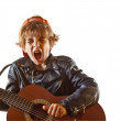 Rock star in the making — Stock Photo