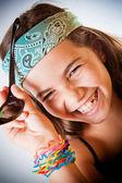 Mladá dívka se smíchem — Stock fotografie