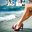 Sexy summer legs by the sea — Stock Photo #10464130