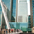 Stock Photo: Footbridge at Canary Wharf